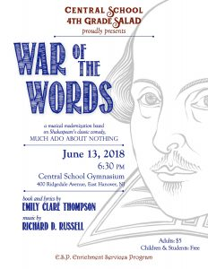 WAR OF THE WORDS June 13 @ Central Elementary School   East Hanover   New Jersey   United States